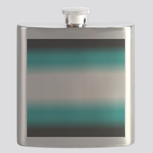 Teal White Black Ombre Flask