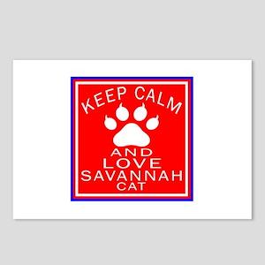 Keep Calm And Savannah Ca Postcards (Package of 8)