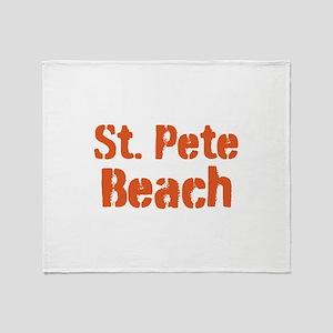 St. Pete Beach Throw Blanket
