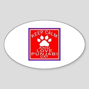 Keep Calm And Punjabi Cat Sticker (Oval)