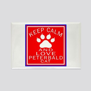 Keep Calm And Peterbald Cat Rectangle Magnet