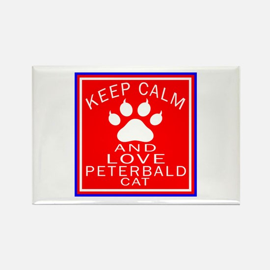 Keep Calm And Peterbald Cat Rectangle Magnet