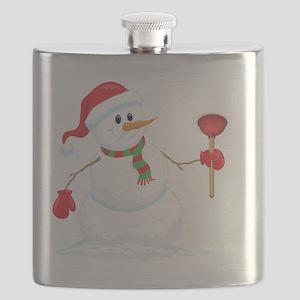 Snowman Plumber Flask