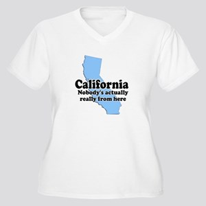 California Not From Here Women's Plus Size V-Neck