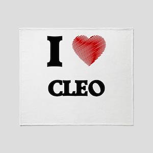 I love Cleo Throw Blanket