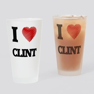 I love Clint Drinking Glass