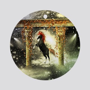 Wonderful horse Round Ornament