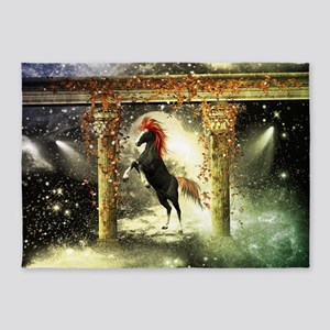 Wonderful horse 5'x7'Area Rug