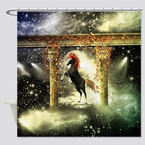 Wonderful horse Shower Curtain