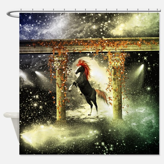 Wonderful horse Shower Curtain