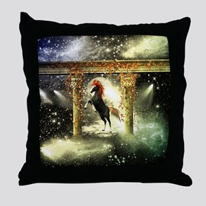 Wonderful horse Throw Pillow