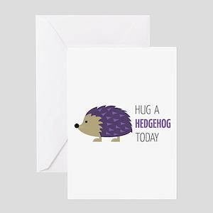 Hug A Hedgehog Greeting Cards
