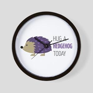 Hug A Hedgehog Wall Clock