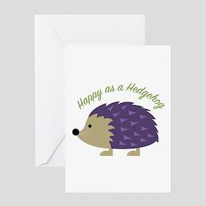 Happy As Hedgehog Greeting Cards