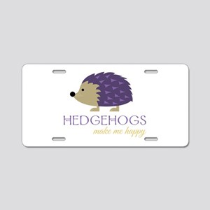 Happy Hedgehogs Aluminum License Plate