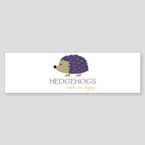 Happy Hedgehogs Bumper Sticker