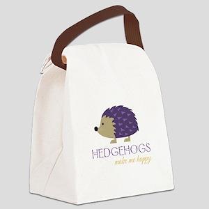 Happy Hedgehogs Canvas Lunch Bag