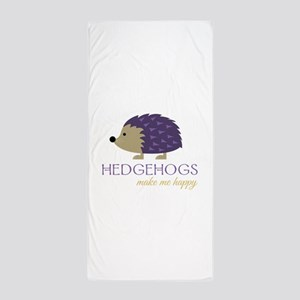 Happy Hedgehogs Beach Towel