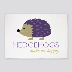 Happy Hedgehogs 5'x7'Area Rug