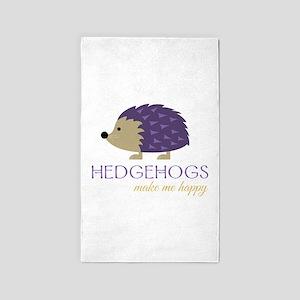 Happy Hedgehogs Area Rug