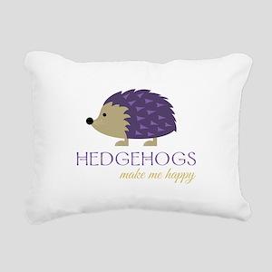 Happy Hedgehogs Rectangular Canvas Pillow