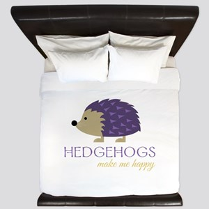 Happy Hedgehogs King Duvet