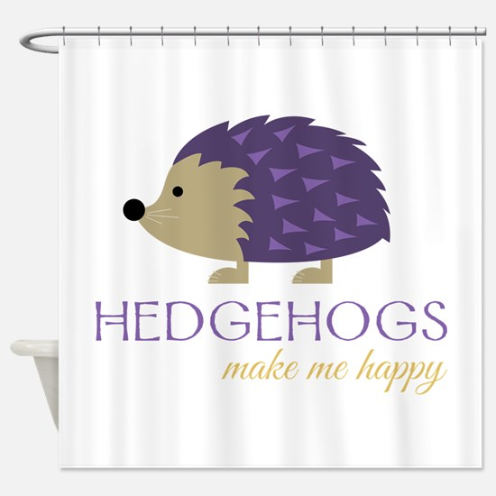 Happy Hedgehogs Shower Curtain