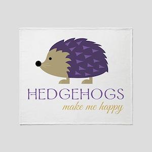 Happy Hedgehogs Throw Blanket