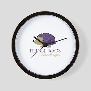 Happy Hedgehogs Wall Clock
