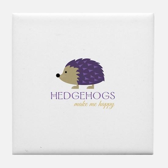 Happy Hedgehogs Tile Coaster