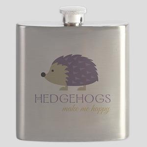 Happy Hedgehogs Flask