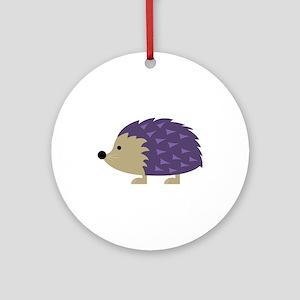Hedgehog Round Ornament