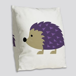 Hedgehog Burlap Throw Pillow