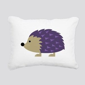 Hedgehog Rectangular Canvas Pillow