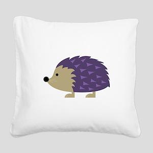 Hedgehog Square Canvas Pillow