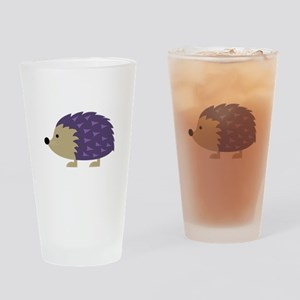 Hedgehog Drinking Glass