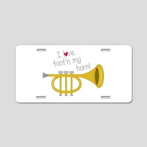 Tootn My Horn Aluminum License Plate