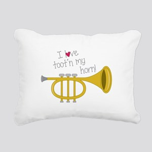 Tootn My Horn Rectangular Canvas Pillow
