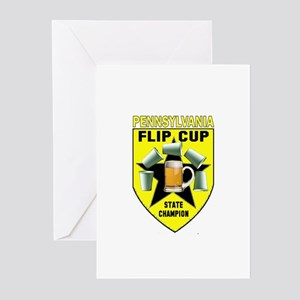 Pennsylvania Flip Cup State C Greeting Cards (Pk o