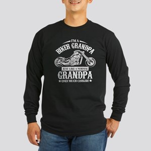Biker Grandpa Long Sleeve T-Shirt