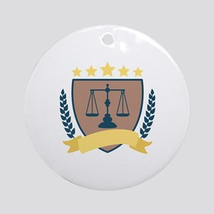 Criminal Justice Emblem Round Ornament