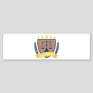 Criminal Justice Emblem Bumper Sticker