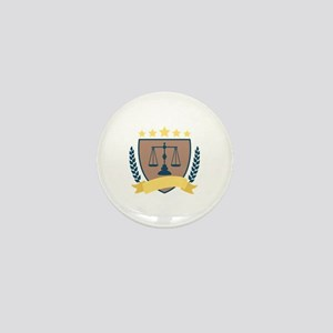 Criminal Justice Emblem Mini Button
