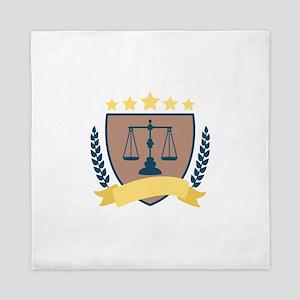 Criminal Justice Emblem Queen Duvet