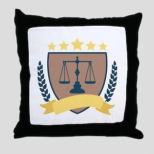 Criminal Justice Emblem Throw Pillow