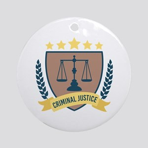 Criminal Justice Round Ornament