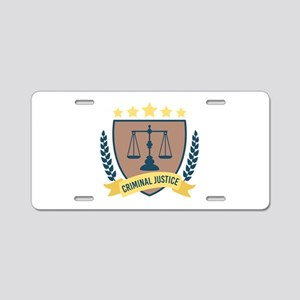 Criminal Justice Aluminum License Plate