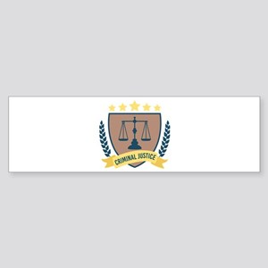 Criminal Justice Bumper Sticker