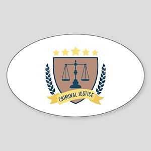 Criminal Justice Sticker