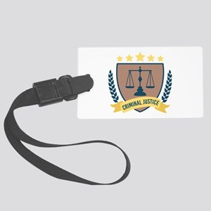 Criminal Justice Luggage Tag
